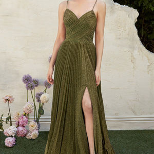 Teal sleeveless Bridesmaid Long Dress